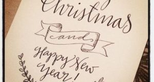 Calligraphy Christmas Cards and Bookmarks